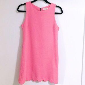 Monteau Hot Pink Scalloped Mini Dress
